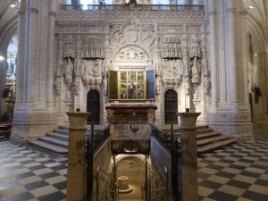 086. Palencia. Catedral. Acceso a cripta