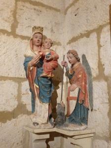 096. Palencia. Catedral. Museo. Virgen y San Miguel. XIII-XIV