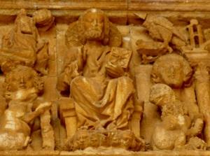 134. Villalcázar de Sirga. Santa María la Blanca. Portada