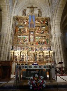 144. Villalcázar de Sirga. Santa María la Blanca.Retablo del Altar Mayor