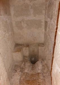 Letrina en la Torre del Homenaje