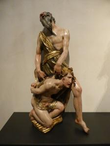 324. Valladolid. San Gregorio. Museo Nac. Escultura. Sacrificio de Isaac de Alonso Berruguete
