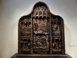 326. Valladolid. San Gregorio. Museo Nac. Escultura. Retablo Vida de la Virgen. Anónimo flamenco de hacia 1515