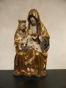 327. Valladolid. San Gregorio. Museo Nac. Escultura. Santa Ana, Virgen y Niño. Principios del XVI