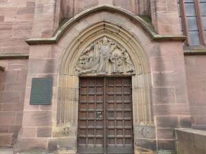 121. Worms. Catedral. Puerta al sur de la capilla de San Nicolás