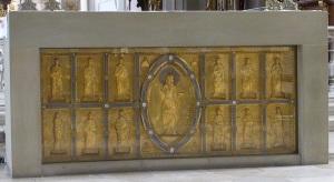 336. Grosscomburg. San Nicolás. Frontal de altar románico