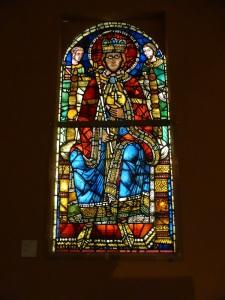 554. Emperador (Carlomagno). Procedente de catedral de estrasburgo. Hacia 1200