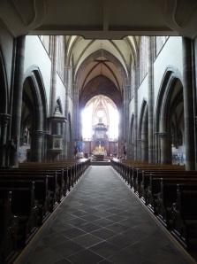 599. Mamoutier. Iglesia abacial. Nave central