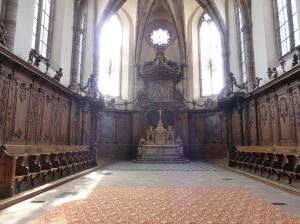 601. Mamoutier. Iglesia abacial. Sillería del coro