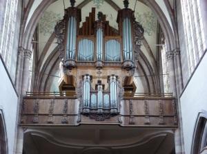 602. Mamoutier. Iglesia abacial. Órgano
