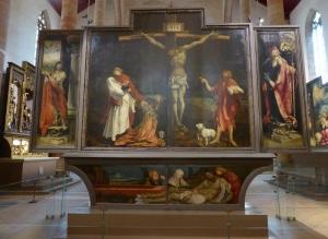 685. Colmar. Iglesia de los Dominicos. Retablo de Issenheim (Grünewald. 1512-1516). Aspecto cerrado