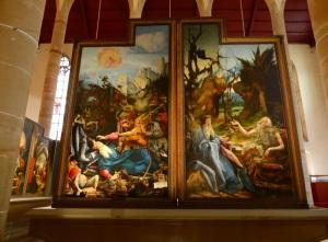 686. Colmar. Iglesia de los Dominicos. Retablo de Issenheim (Grünewald. 1512-1516)