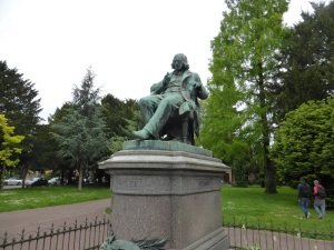 705. Colmar. Estatua de G. A. Hirn de Bartholdi
