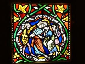 El beso de Judas. Hacia 1260