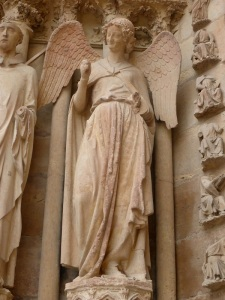 134. Reims. Catedral. Portada norte de la fachada oeste