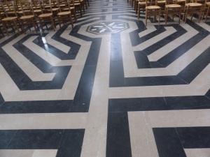 406. Amiens. Catedral. Pavimento y laberinto