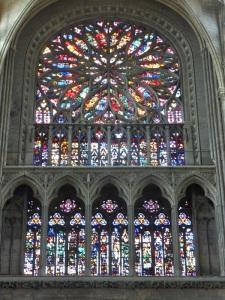 418. Amiens. Catedral. Deambulatorio, pared norte del coro. Vida de San Juan