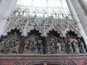 424. Amiens. Catedral. Deambulatorio, pared sur del coro. Vida de San Fermín