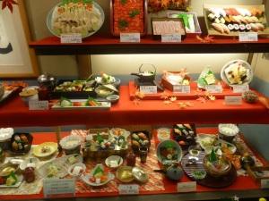 009. Kyoto. Anuncios de comida en plástico