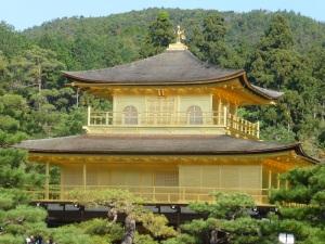 035. Kyoto. Templo de Kinkaku-ji. Pabellón dorado