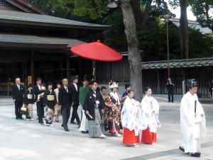 640. Tokio. Santuario Meiji. Boda sintoísta