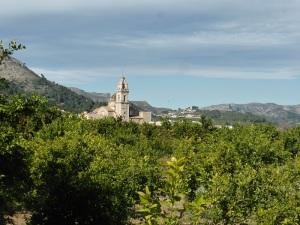 140. Monasterio de Santa María de Valldigna desde ermita de Santa Ana
