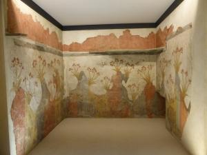 764. Atenas. Museo Arqueológico Nacional. Pinturas de Santotini (Acrotiri o Thera). Fresco de la primavera.