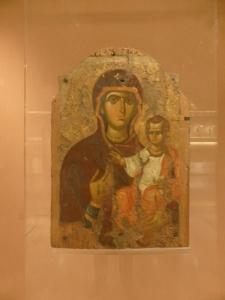 795. Atenas. Museo bizantino.  Virgen Hodegetria . Constantinopla. 2ª mitad del XIII