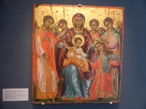 805. Atenas. Museo bizantino. Exposición sobre El Greco. Matrimonio místico de Santa Catalina. 2ª mitad del XVI