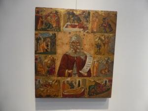 806. Atenas. Museo bizantino. Exposición sobre El Greco. San Antonio. Principios del XVI