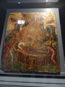 811. Atenas. Museo bizantino. Exposición sobre El Greco. Dormición de la Virgen de El Greco