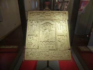 1156. Museo Nacional. Cubierta de Evangeliario llamada Díptico de Murano. Procedente de Egipto. Siglo VI