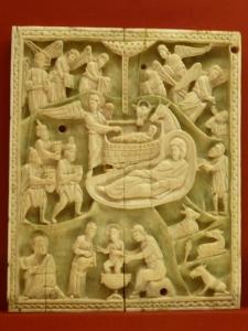 1157. Museo Nacional. Tablilla de márfil. Bizancio. Principios del XII