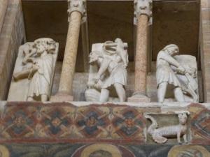 1412. Parma. Baptisterio. Meses del año