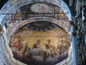 1481. Parma. San Juan Evangelista. Cuenca absidial. copia de Cesare Aretusi del original de Correggio conservado en la Pinacoteca.