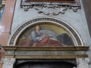 1482. Parma. San Juan Evangelista. Luneta de San Juan pintada por Correggio