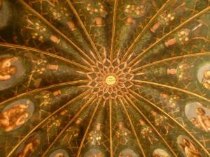 1491. Parma. Cámara de San Paolo. Pintada por Correggio
