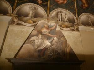 1492. Parma. Cámara de San Paolo. Pintada por Correggio