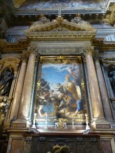 232. Nápoles. Duomo. Capilla del Tesoro de San Genaro. José de Ribera, el Españoleto. 1646. San Genaro sale ileso de los hornos.