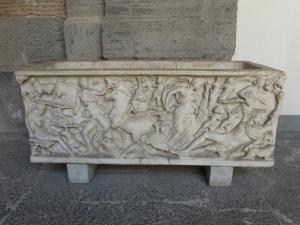 351. Nápoles. Museo Arqueológico Nacional. Sarcófagos