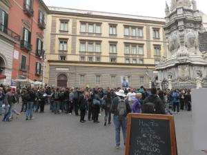 786. Nápoles. Piazza del Gesú Nuovo