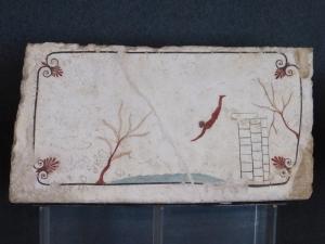 881. Paestum. Museo. La tumba del Tuffatore