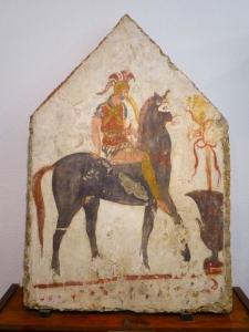 886. Paestum. Museo. Tumba en Andriuolo