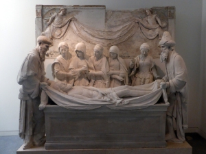 410. Coimbra. Museo Machado de Castro. Deposición de Cristo en la tumba .Juan de Rouen. Monasterio de Santa Cruz. XVI
