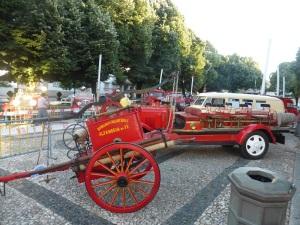 585. Bragança. Exposición coches de bomberos antriguos