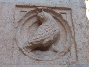 1374. Parma. Baptisterio. Portada de Barlaam (al sur)