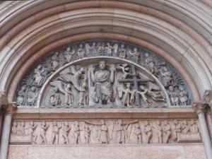 1394. Parma. Baptisterio. Portal del Juicio Final (al oeste)