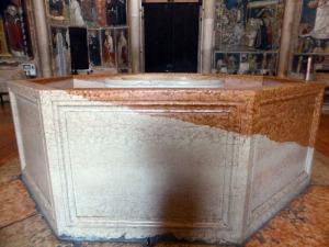 1401. Parma. Baptisterio. Piscina