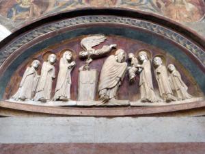 1405. Parma. Baptisterio. Presentación en el templo