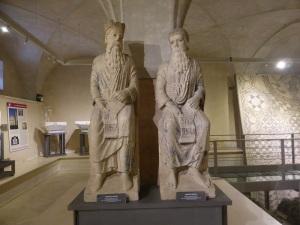 1469. Parma Museo Diocesano. El profeta Natán y el Rey David de Antelami. Procedentes de la cara norte del baptisterio.